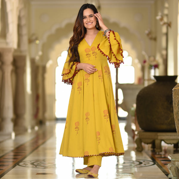 buy mustard yellow dress for women online