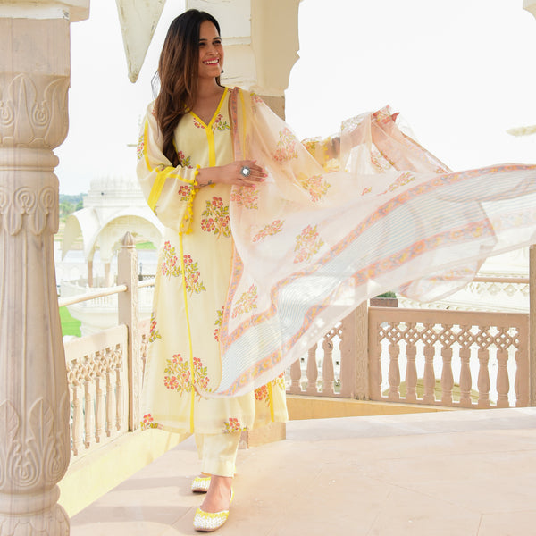 shop yellow cotton suit set online at best prices