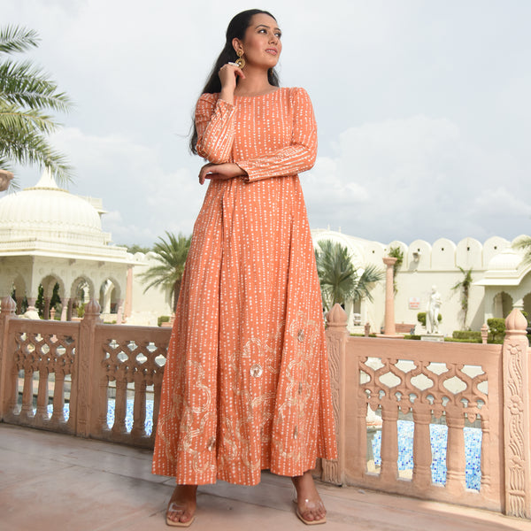 best quality kurta for women , peach coloured kurta