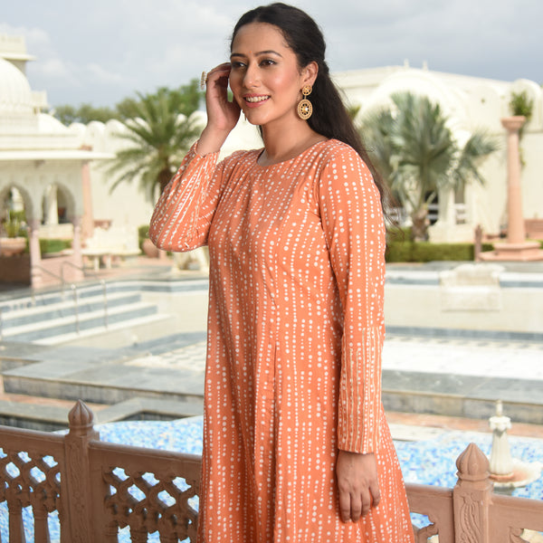 buy kurta online at best prices,peach coloured kurta for women
