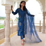 get blue color suit with dupatta at amazing prices