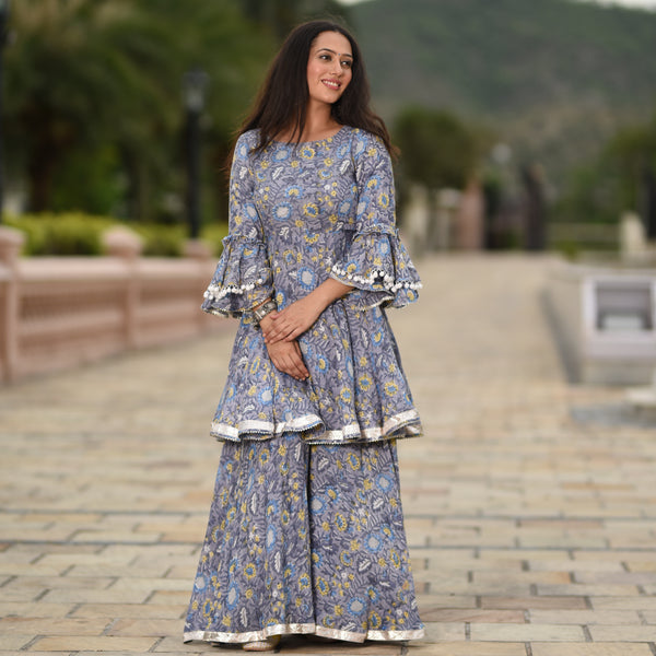 get amazing quality kurta with palazzo online at best prices