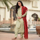 buy kurta with dupatta,buy mistletoe coloured kurta for women