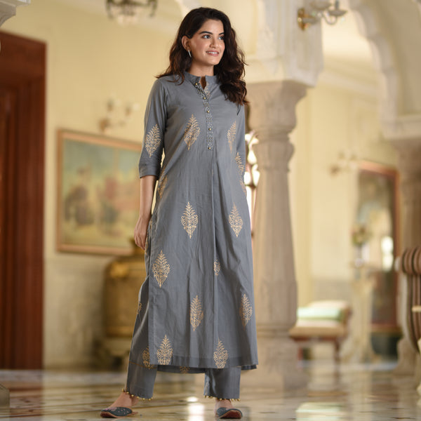 straight kurta for women,grey kurta, buy straight kurta online