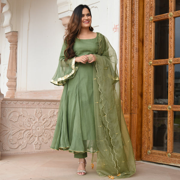 olive green suit set for women