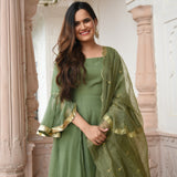 get green color doriya suit set at best prices