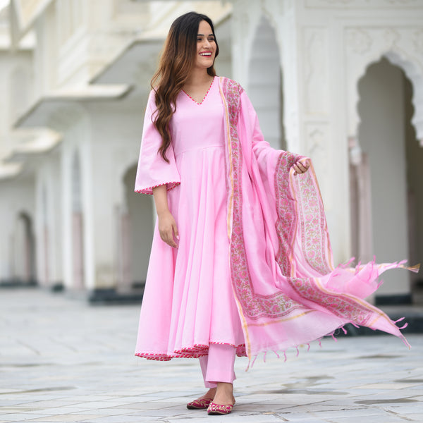 pink cotton suit for women,pink suit for women at best prices