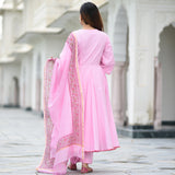 amazing quality pink suit for women