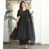 shop amazing quality black cotton suit online