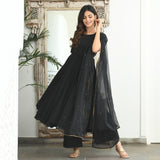 cotton suit with organza dupatta online
