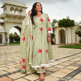 Green Daisies Doriya Suit Set