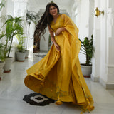 Yellow Sequin Lehenga Set