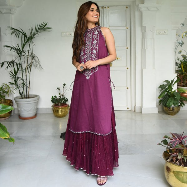 Purple Potion Kurta Set
