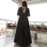 Black Opulence Cotton Dress