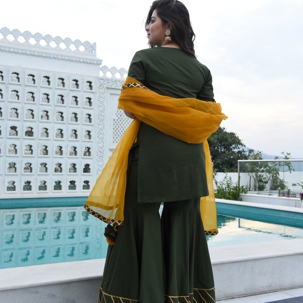 Willow Green Sharara Set