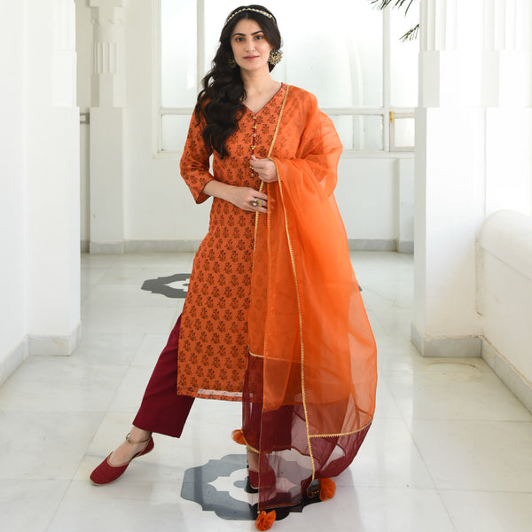 Celosia Chanderi Suit Set