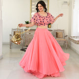 Sugared Peach Lehenga Set