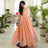 Melon Peach Cotton Dress