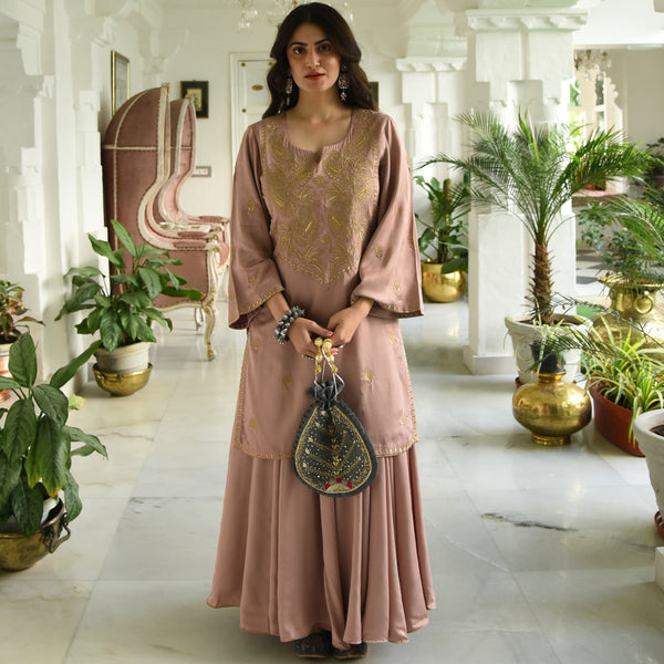Mahogany Rose Kurta Set