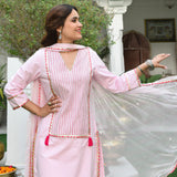 Delicate Pink Cotton Suit Set