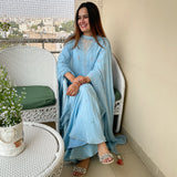 shop muslin kurta with sharara and chiffon dupatta online at best prices