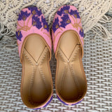 Buy juttis for women online in pink purple