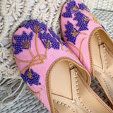 pink purple Juttis for women