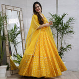 Yellow Bandhej Lehenga Set