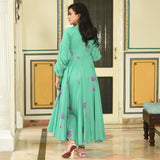 Chiffon Sleeves Cotton Dress