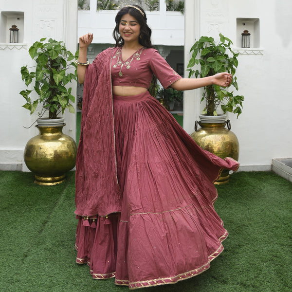 Withered Rose Lehenga Set
