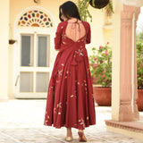Molten Maroon Cotton Dress