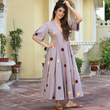 Polka Sage Cotton Dress