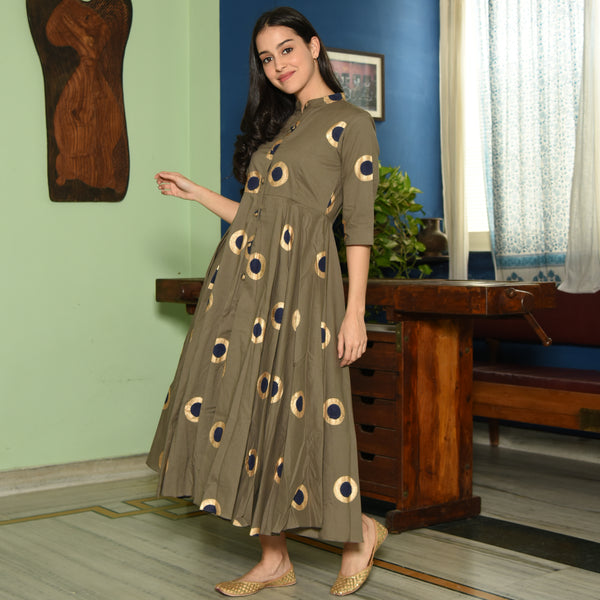 Aloe Gold Cotton Dress