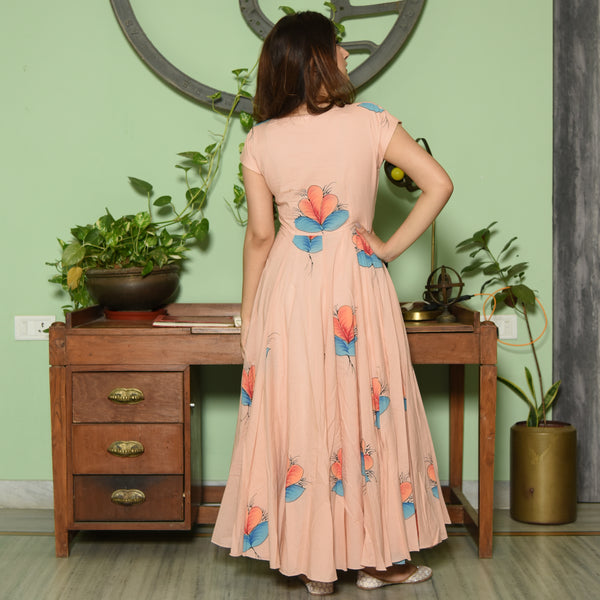 Light Peach Handpainted Dress
