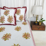 Multicolour Cotton Printed Bedsheet
