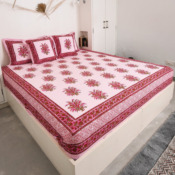 Pink Bed linens with Pillow cover