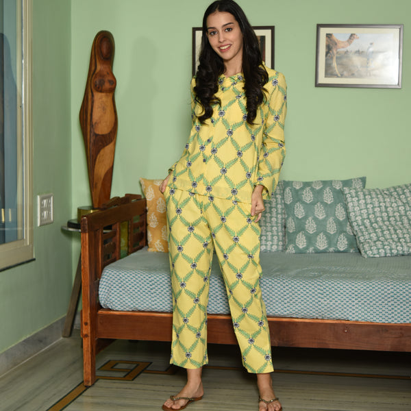 Yellow Cotton Nightsuit