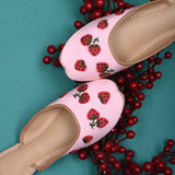 Juttis for women latest design strawberry pink