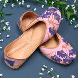 pink purple Juttis for women latest design