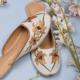 Golden white Juttis for women latest design
