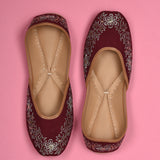 Buy maroon juttis for women online