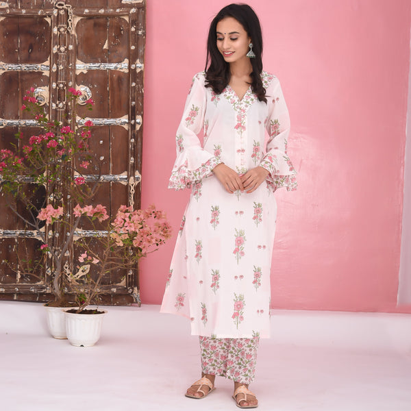 Floral Cotton Kurta Set