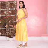Yellow White Cotton Kurta Set
