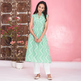 Light Green Cotton Kurta Set