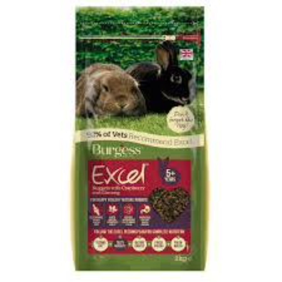 BURGESS EXCEL NUGGETS RABBIT SENIOR