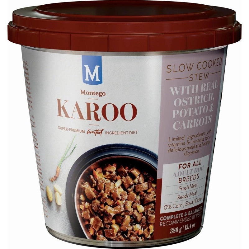 MONTEGO KAROO DOG WET FOOD TUB OSTRICH