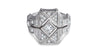 Full of diamonds geometric shaped milgrain ring - shiri tam fine jewelry