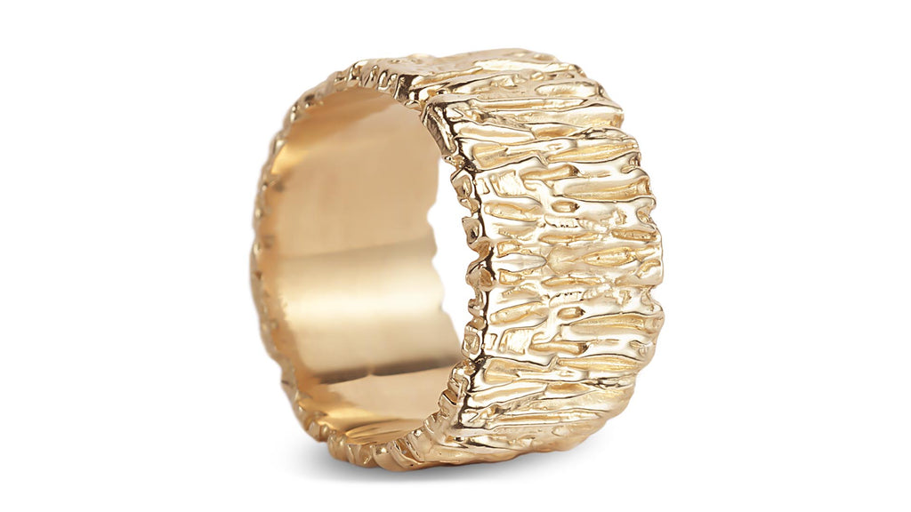 Wide texture band rings - shiri tam fine jewelry