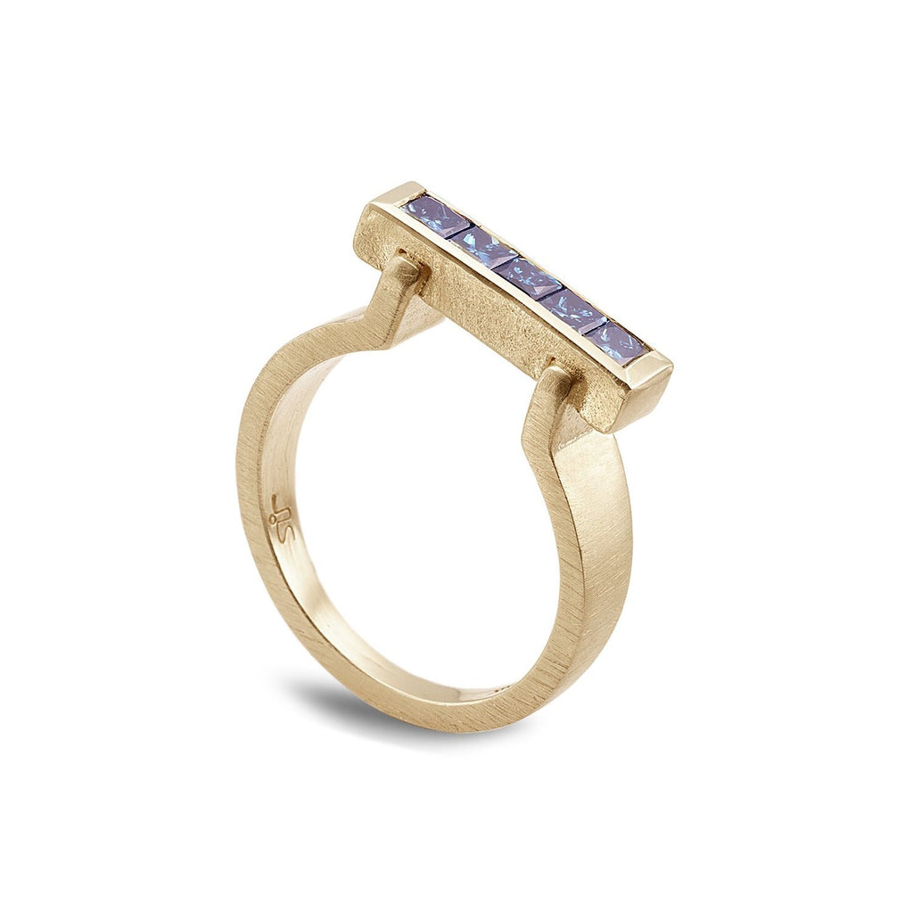 Blue diamonds ring - shiri tam fine jewelry