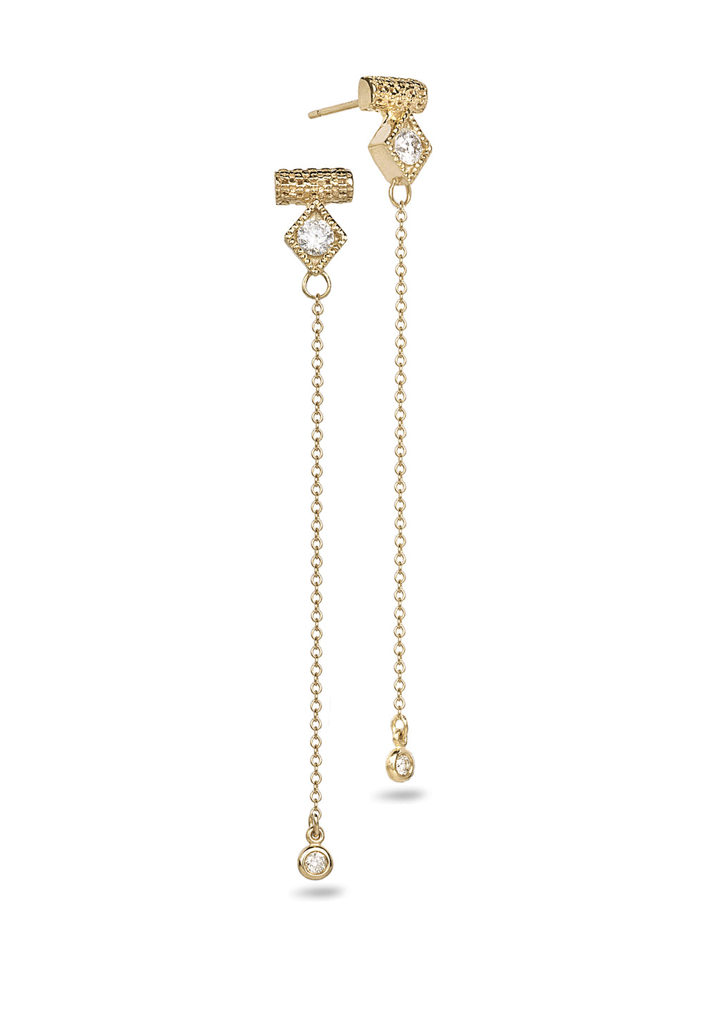 Chain drop fashion earrings - shiri tam fine jewelry